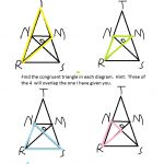 Congruent overlapping triangles