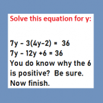 Solve equation that has parenthesis